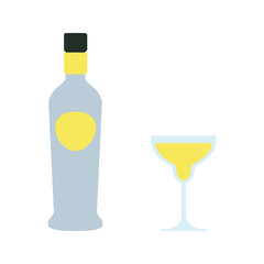 alcohol bottle flat icon