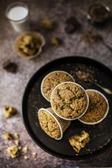 Soft and gluten-free mini cakes with oatmeal and rice flour, enr