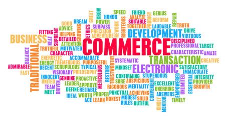 Commerce Word Cloud Concept