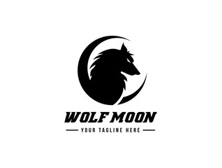 Wolf logo, fox logo, animal logo template.