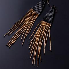 Handmade jewelry. Earrings from beads.