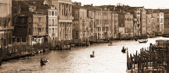 VENICE, ITALY - SEPTEMBER 21: Grand Canal of Venice on September