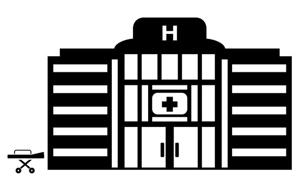 Hôpital et un brancard