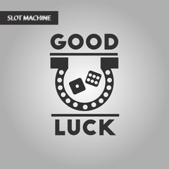 black and white style good luck logo