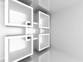 White Architecture Design Geometric Background