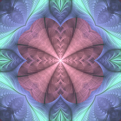 Crazy fractal composition
