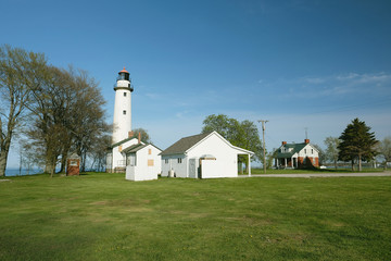 Pointe aux Barques Lighthouse, built in 1848