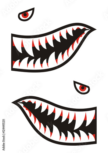 Shark Teeth Decals Stock Image And Royalty Free Vector Files On
