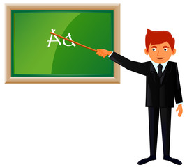 You male teacher vector image