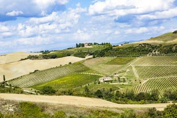 Landscape of Crete Senesi in Tuscany