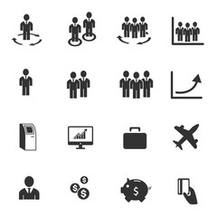 Businessman icons, people management human resources - vector ic