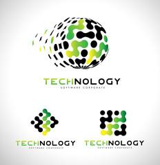 Technology Logo. Tech Logo Icon Vector