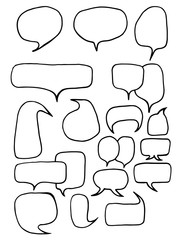 Collection of different shapes and sizes of speech