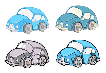 Cute Small Car Designs Vector