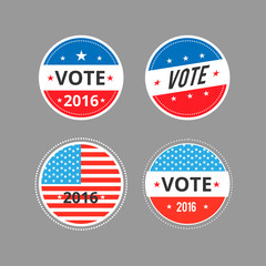 Vector illustration of  Voted stickers,signs