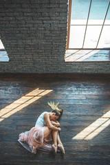Young dancer posing at camera