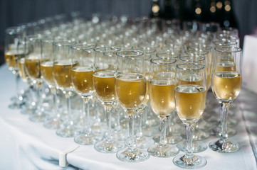 champagne at cocktail party