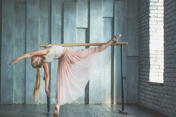 Young woman practising ballet
