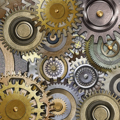 3D metallic gears background