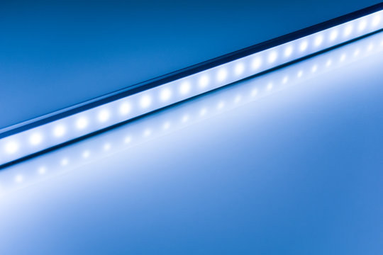 colour of led rigid strip lighht : One line led light on blue