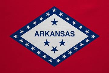 Flag of Arkansas real detailed fabric texture