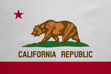 Flag of California real detailed fabric texture