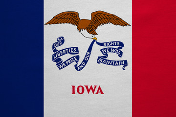 Flag of Iowa real detailed fabric texture