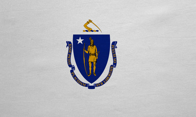 Flag of Massachusetts real detailed fabric texture