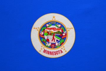 Flag of Minnesota real detailed fabric texture