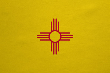 Flag of New Mexico real detailed fabric texture