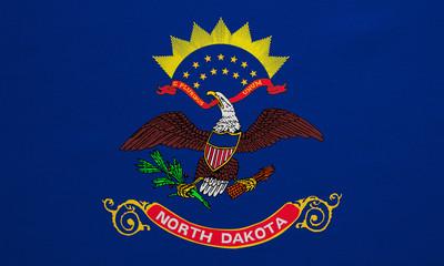 Flag of North Dakota real detailed fabric texture