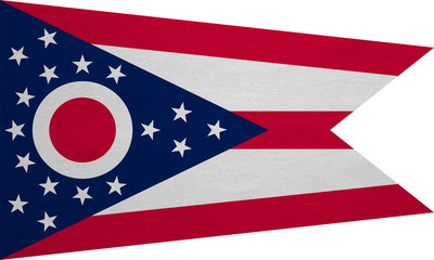 Flag of Ohio real detailed fabric texture