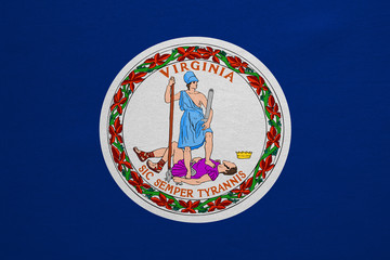 Flag of Virginia real detailed fabric texture