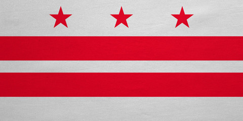 Flag of Washington, D.C. detailed fabric texture