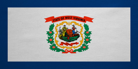 Flag of West Virginia real detailed fabric texture