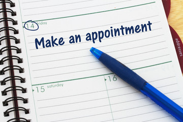Reminder to make an appointment