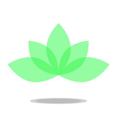 lotus icon vector transparent green mint color petals flower
