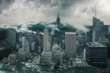 New York unter Wasser