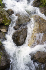 Waterfall. Color image
