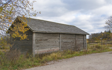 Old barn in countryside