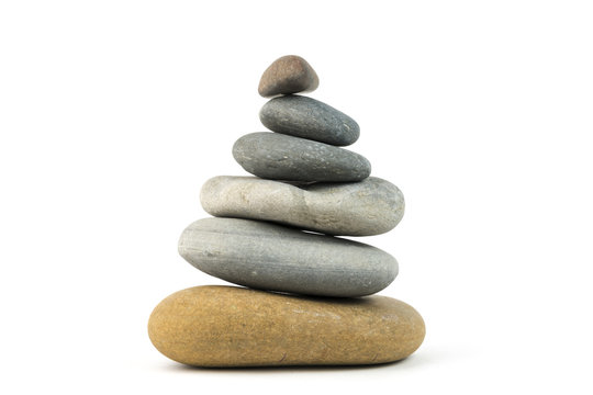 Balance concept. Stones stacked on top of each other isolated