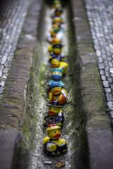 Gummienten im Bächle in Freiburg