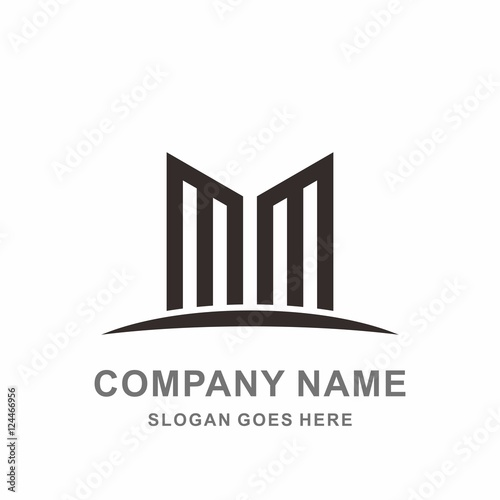 Building shape geometric letter m architecture real for Interior company name list