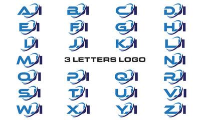 3 letters modern generic swoosh logo AJI, BJI, CJI, DJI, EJI, FJI, GJI, HJI,IJI, JJI, KJI, LJI, MJI, NJI, OJI, PJI, QJI, RJI, SJI, TJI, UJI, VJI, WJI, XJI, YJI, ZJI