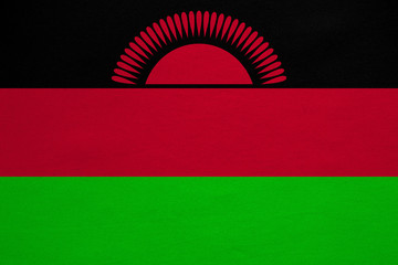 Flag of Malawi real detailed fabric texture