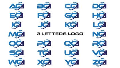 3 letters modern generic swoosh logo AQI, BQI, CQI, DQI, EQI, FQI, GQI, HQI,IQI, JQI, KQI, LQI, MQI, NQI, OQI, PQI, QQI, RQI, SQI, TQI, UQI, VQI, WQI, XQI, YQI, ZQI