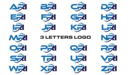 3 letters modern generic swoosh logo ARI, BRI, CRI, DRI, ERI, FRI, GRI, HRI,IRI, JRI, KRI, LRI, MRI, NRI, ORI, PRI, QRI, RRI, SRI, TRI, URI, VRI, WRI, XRI, YRI, ZRI