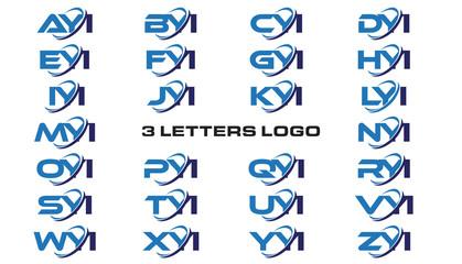 3 letters modern generic swoosh logo AYI, BYI, CYI, DYI, EYI, FYI, GYI, HYI,IYI, JYI, KYI, LYI, MYI, NYI, OYI, PYI, QYI, RYI, SYI, TYI, UYI, VYI, WYI, XYI, YYI, ZYI