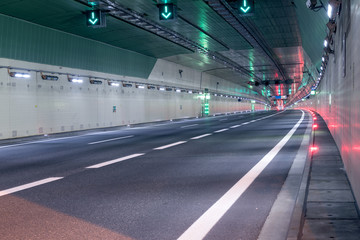 No traffic in the road tunnel
