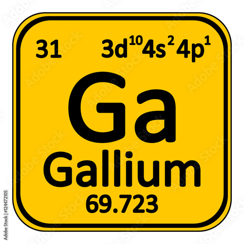 Periodic Table Element Gallium Icon Stock Image And Royalty Free